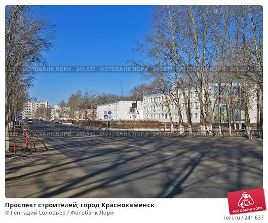 Купить «Проспект строителей, город Краснокаменск», фото № 241637, снято 23 ноября 2017 г. (c) Геннадий Соловьев / Фотобанк Лори
