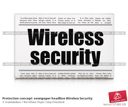 the concept of wireless security
