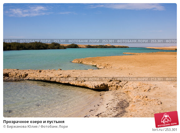 Прозрачное озеро и пустыня, фото № 253301, снято 2 января 2008 г. (c) Биржанова Юлия / Фотобанк Лори