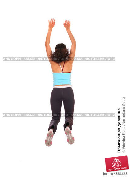 Купить «Прыгающая девушка», фото № 338665, снято 10 мая 2008 г. (c) Vdovina Elena / Фотобанк Лори