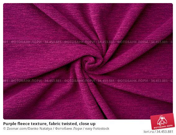 Purple fleece texture, fabric twisted, close up. Стоковое фото, фотограф Zoonar.com/Danko Natalya / easy Fotostock / Фотобанк Лори