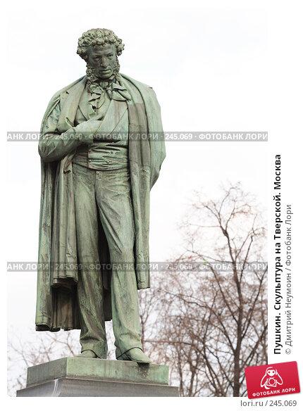 Купить «Пушкин. Скульптура на Тверской. Москва», эксклюзивное фото № 245069, снято 6 апреля 2008 г. (c) Дмитрий Неумоин / Фотобанк Лори