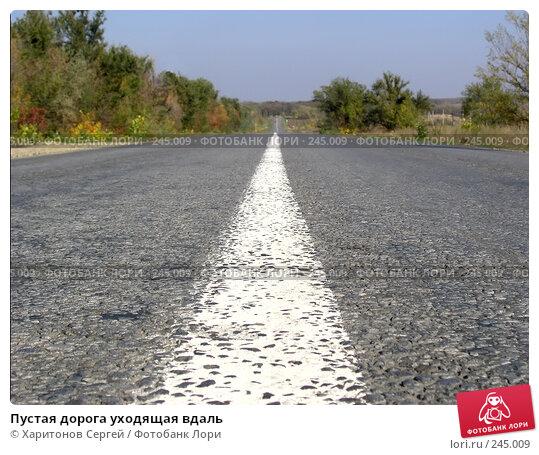 Пустая дорога уходящая вдаль, фото № 245009, снято 18 октября 2007 г. (c) Харитонов Сергей / Фотобанк Лори