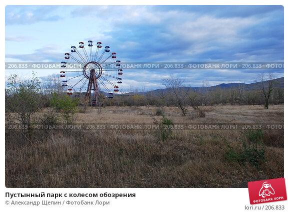 Купить «Пустынный парк с колесом обозрения», эксклюзивное фото № 206833, снято 27 сентября 2007 г. (c) Александр Щепин / Фотобанк Лори