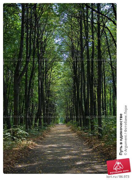 Купить «Путь в одиночестве», фото № 86973, снято 23 августа 2007 г. (c) Argument / Фотобанк Лори