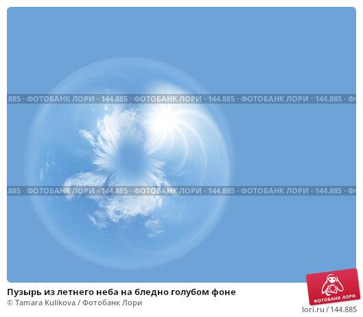 Пузырь из летнего неба на бледно голубом фоне, иллюстрация № 144885 (c) Tamara Kulikova / Фотобанк Лори