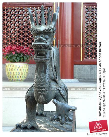 Пятипалый дракон - один из символов Китая, фото № 144777, снято 24 сентября 2017 г. (c) Вера Тропынина / Фотобанк Лори