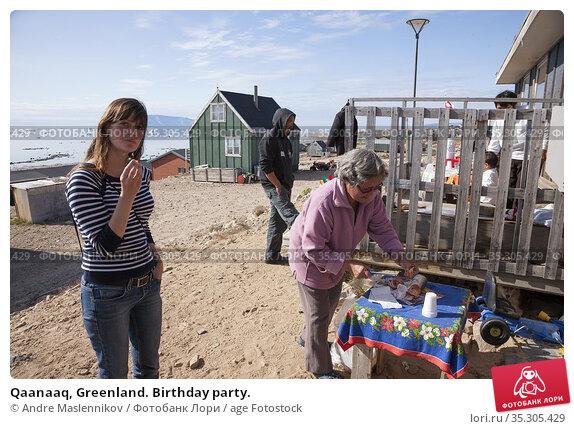 Qaanaaq, Greenland. Birthday party. (2009 год). Редакционное фото, фотограф Andre Maslennikov / age Fotostock / Фотобанк Лори