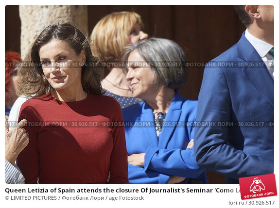 Купить «Queen Letizia of Spain attends the closure Of Journalist's Seminar 'Como Los Medios De Comunicacion Pueden Ayudar A Repoblar La España Rural' on June 12, 2019 in Burgo de Osma, Spain», фото № 30926517, снято 12 июня 2019 г. (c) age Fotostock / Фотобанк Лори
