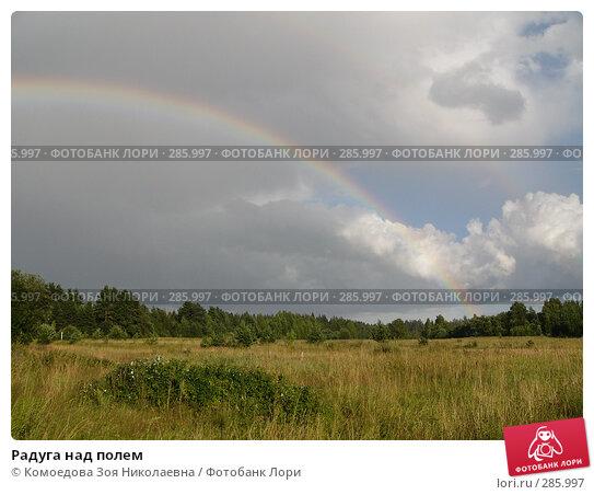 Радуга над полем, фото № 285997, снято 3 августа 2005 г. (c) Комоедова Зоя Николаевна / Фотобанк Лори