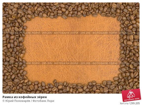 Рамка из кофейных зёрен, фото № 299205, снято 6 февраля 2008 г. (c) Юрий Пономарёв / Фотобанк Лори