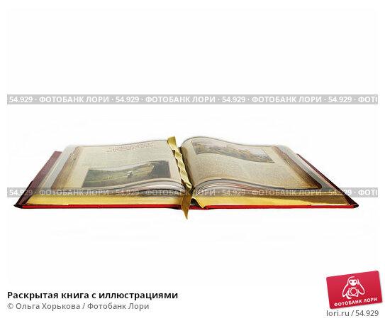 Раскрытая книга с иллюстрациями, фото № 54929, снято 10 марта 2007 г. (c) Ольга Хорькова / Фотобанк Лори