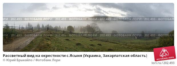 Рассветный вид на окрестности с.Ясыня (Украина, Закарпатская область), фото № 202493, снято 21 февраля 2017 г. (c) Юрий Брыкайло / Фотобанк Лори