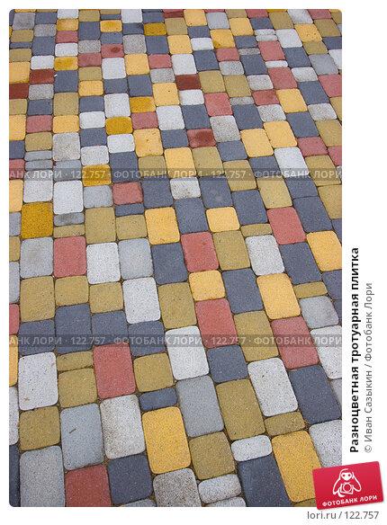 Разноцветная тротуарная плитка, фото № 122757, снято 15 октября 2007 г. (c) Иван Сазыкин / Фотобанк Лори