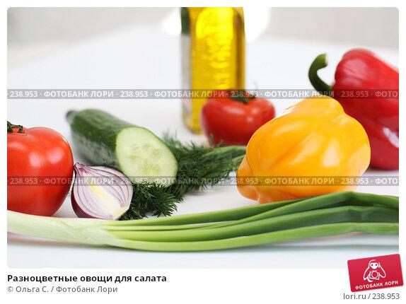 Разноцветные овощи для салата, фото № 238953, снято 31 марта 2008 г. (c) Ольга С. / Фотобанк Лори