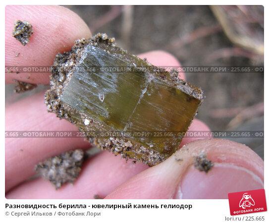 Разновидность берилла - ювелирный камень гелиодор, фото № 225665, снято 15 апреля 2007 г. (c) Сергей Ильков / Фотобанк Лори