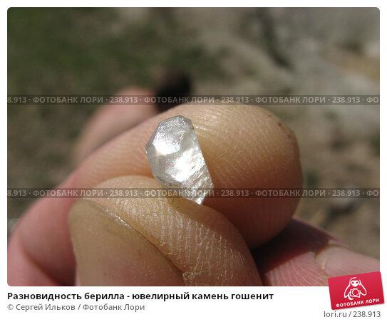 Разновидность берилла - ювелирный камень гошенит, фото № 238913, снято 19 мая 2007 г. (c) Сергей Ильков / Фотобанк Лори