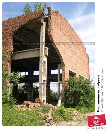 Разрушенная фабрика, фото № 116481, снято 10 июля 2004 г. (c) Losevsky Pavel / Фотобанк Лори