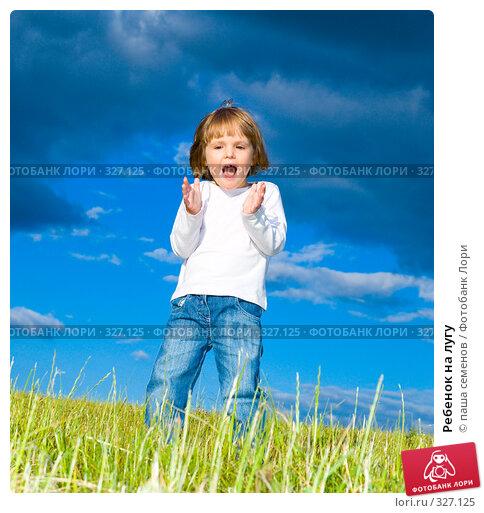 Ребенок на лугу, фото № 327125, снято 15 июня 2008 г. (c) паша семенов / Фотобанк Лори