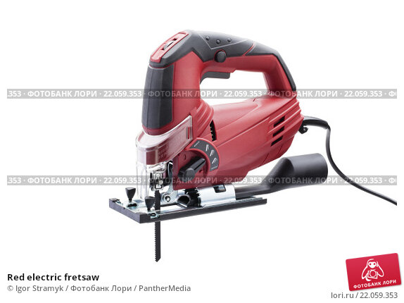 Купить «Red electric fretsaw», фото № 22059353, снято 22 февраля 2019 г. (c) PantherMedia / Фотобанк Лори