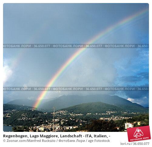 Regenbogen, Lago Maggiore, Landschaft - ITA, Italien, - Стоковое фото, фотограф Zoonar.com/Manfred Ruckszio / age Fotostock / Фотобанк Лори