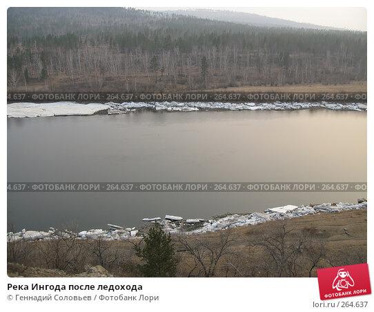 Река Ингода после ледохода, фото № 264637, снято 25 апреля 2008 г. (c) Геннадий Соловьев / Фотобанк Лори