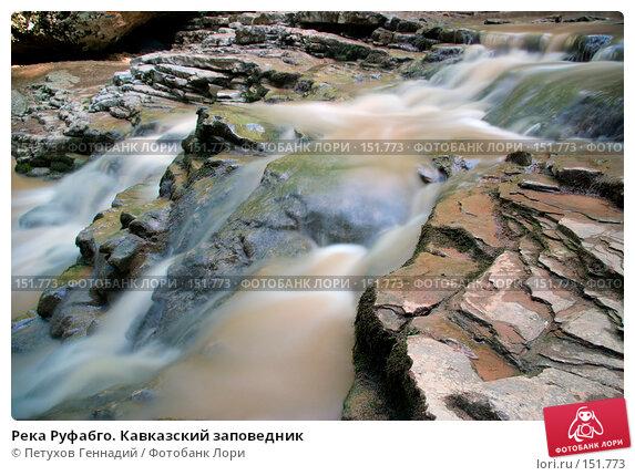 Река Руфабго. Кавказский заповедник, фото № 151773, снято 10 августа 2007 г. (c) Петухов Геннадий / Фотобанк Лори