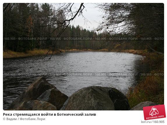 Купить «Река стремящаяся войти в Ботнический залив», фото № 160905, снято 24 октября 2007 г. (c) Вадим / Фотобанк Лори