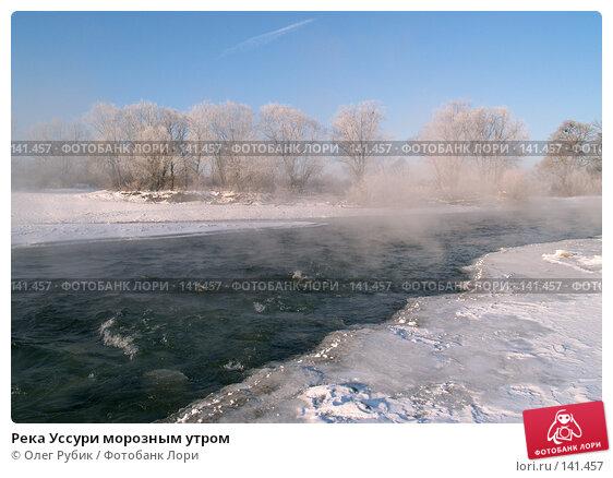 Река Уссури морозным утром, фото № 141457, снято 23 ноября 2007 г. (c) Олег Рубик / Фотобанк Лори