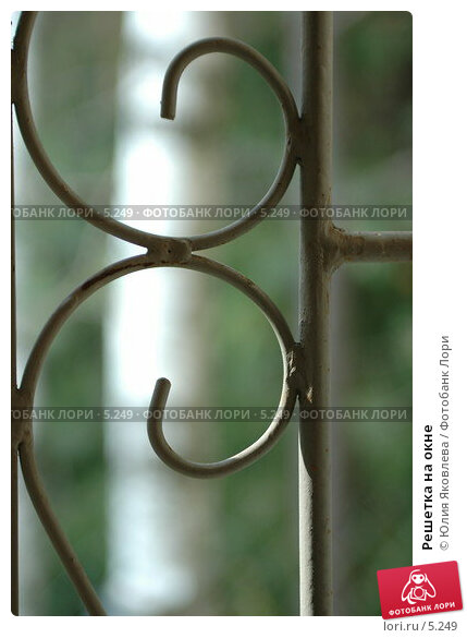 Решетка на окне, фото № 5249, снято 5 июля 2006 г. (c) Юлия Яковлева / Фотобанк Лори