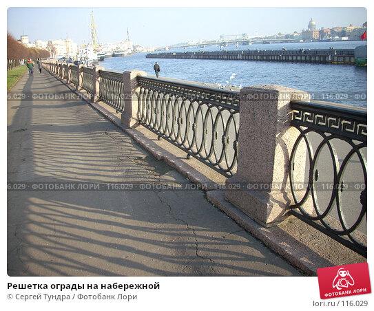 Решетка ограды на набережной, фото № 116029, снято 30 октября 2007 г. (c) Сергей Тундра / Фотобанк Лори