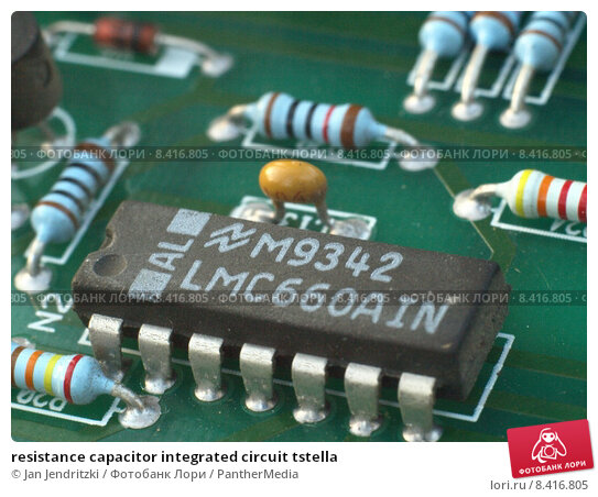 Купить «resistance capacitor integrated circuit tstella», фото № 8416805, снято 16 февраля 2019 г. (c) PantherMedia / Фотобанк Лори