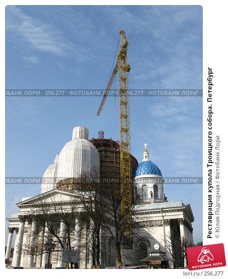 Реставрация купола Троицкого собора. Петербург, фото № 256277, снято 17 апреля 2008 г. (c) Юлия Селезнева / Фотобанк Лори