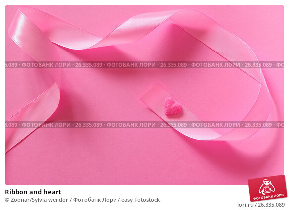 Ribbon and heart, фото № 26335089, снято 24 мая 2017 г. (c) easy Fotostock / Фотобанк Лори