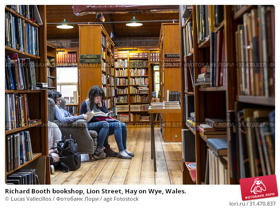 Купить «Richard Booth bookshop, Lion Street, Hay on Wye, Wales.», фото № 31470837, снято 29 января 2020 г. (c) age Fotostock / Фотобанк Лори