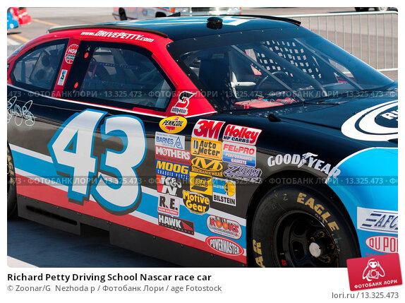 richard petty driving school nascar race car 13325473 age fotostock. Black Bedroom Furniture Sets. Home Design Ideas