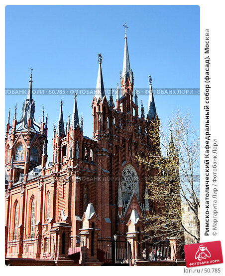 Купить «Римско-католический Кафедральный собор (фасад). Москва», фото № 50785, снято 16 декабря 2017 г. (c) Маргарита Лир / Фотобанк Лори