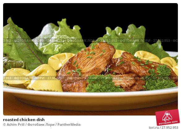 Купить «roasted chicken dish», фото № 27952953, снято 16 июня 2019 г. (c) PantherMedia / Фотобанк Лори