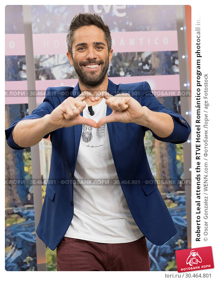Roberto Leal attends the RTVE Hotel Romántico program photocall in... (2017 год). Редакционное фото, фотограф Oscar Gonzalez / WENN.com / age Fotostock / Фотобанк Лори