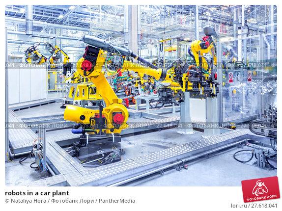 Купить «robots in a car plant», фото № 27618041, снято 21 августа 2018 г. (c) PantherMedia / Фотобанк Лори