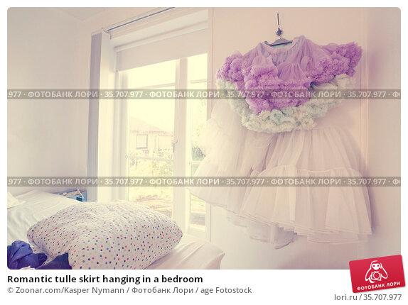Romantic tulle skirt hanging in a bedroom. Стоковое фото, фотограф Zoonar.com/Kasper Nymann / age Fotostock / Фотобанк Лори