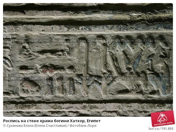Роспись на стене храма богини Хатхор, Египет, фото № 191893, снято 25 января 2008 г. (c) Суханова Елена (Елена Счастливая) / Фотобанк Лори