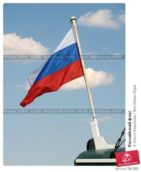 Российский флаг, эксклюзивное фото № 54385, снято 16 июня 2007 г. (c) Ольга Хорькова / Фотобанк Лори