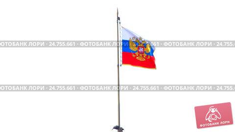 Российский флаг на Сенатском дворце в Московском Кремле, видеоролик № 24755661, снято 22 декабря 2016 г. (c) Алексей Ларионов / Фотобанк Лори