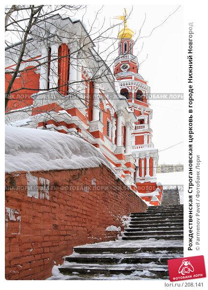 Рождественская Строгановская церковь в городе Нижний Новгород, фото № 208141, снято 19 февраля 2008 г. (c) Parmenov Pavel / Фотобанк Лори