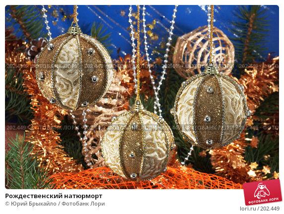 Купить «Рождественский натюрморт», фото № 202449, снято 2 декабря 2007 г. (c) Юрий Брыкайло / Фотобанк Лори