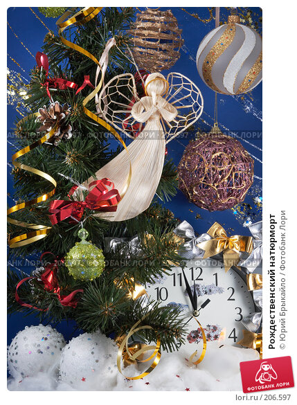 Купить «Рождественский натюрморт», фото № 206597, снято 25 ноября 2007 г. (c) Юрий Брыкайло / Фотобанк Лори