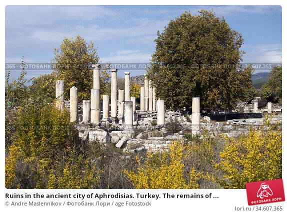 Ruins in the ancient city of Aphrodisias. Turkey. The remains of ... Стоковое фото, фотограф Andre Maslennikov / age Fotostock / Фотобанк Лори