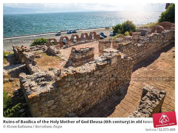 Купить «Ruins of Basilica of the Holy Mother of God Eleusa (6th century) in old town of Nessebar, Bulgaria», фото № 32073409, снято 26 июня 2019 г. (c) Юлия Бабкина / Фотобанк Лори