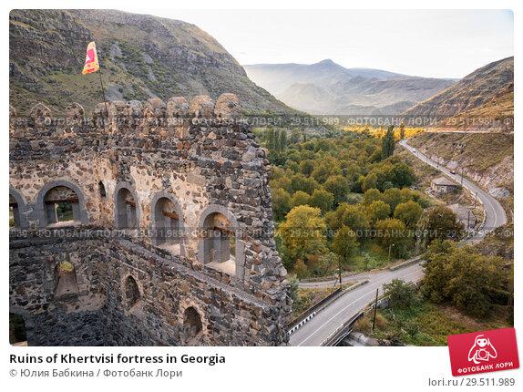 Купить «Ruins of Khertvisi fortress in Georgia», фото № 29511989, снято 25 сентября 2018 г. (c) Юлия Бабкина / Фотобанк Лори